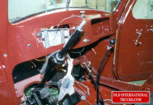"Steering shaft installed with wiring being done <div class=""download-image""><a href=""https://oldinternationaltrucks.com/wp-content/uploads/2017/09/104.jpg"" download><i class=""fa fa-download""></i> <span class=""full-size""></span></a></div>"