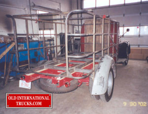 "Body frame made out of one inch tubing. <div class=""download-image""><a href=""https://oldinternationaltrucks.com/wp-content/uploads/2017/09/117.jpg"" download><i class=""fa fa-download""></i> <span class=""full-size""></span></a></div>"