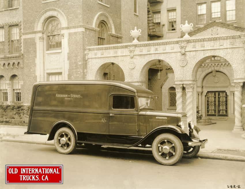 "1935 International Truck Model C-30 Panel with single  rear wheels. <div class=""download-image""><a href=""https://oldinternationaltrucks.com/wp-content/uploads/2017/09/1935-International-Truck-Model-C-30-Panel-with-stable-rear-wheels..jpeg"" download><i class=""fa fa-download""></i> <span class=""full-size""></span></a></div>"