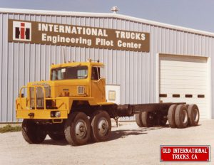 "1982 International F-5070 8x4 at Wagnor Oklahoma plant Tandem steer axles <div class=""download-image""><a href=""https://oldinternationaltrucks.com/wp-content/uploads/2017/09/1982-International-F-5070-8x5-at-Wagnor-Oklahoma-plant..jpeg"" download><i class=""fa fa-download""></i> <span class=""full-size""></span></a></div>"
