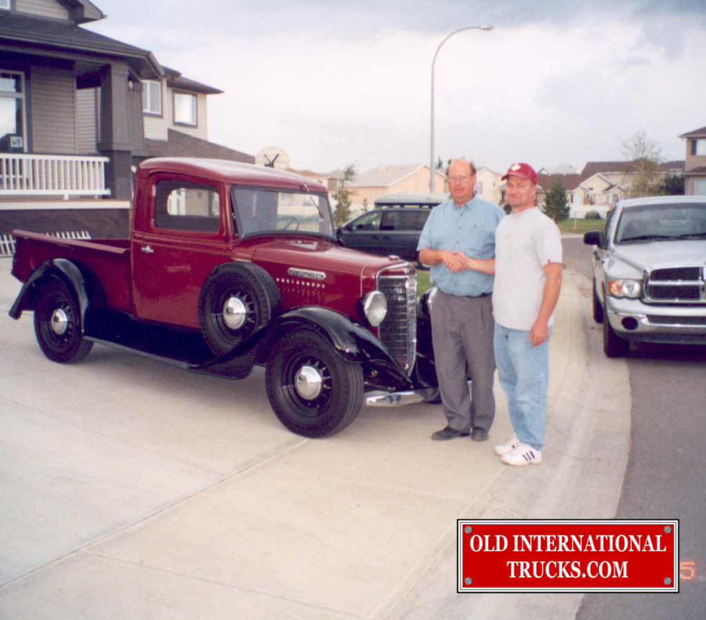 George Kirkham buying the 1935 C-1 from rod Kindt
