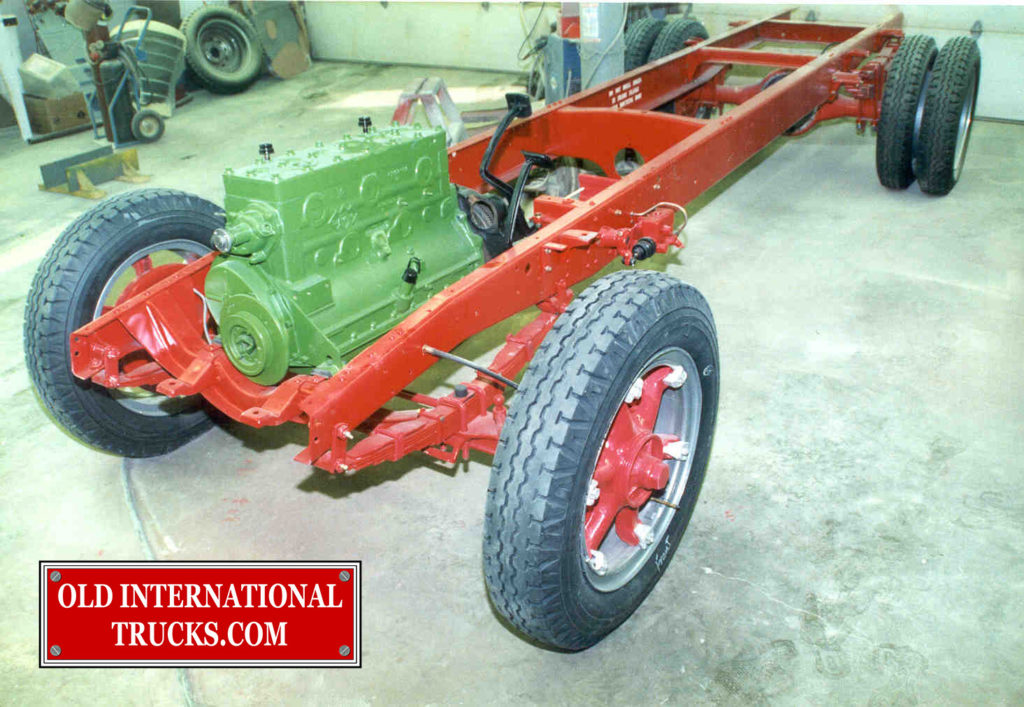 "232 HD engine installed in chassis  <div class=""download-image""><a href=""https://oldinternationaltrucks.com/wp-content/uploads/2017/09/39-1.jpg"" download><i class=""fa fa-download""></i> <span class=""full-size""></span></a></div>"