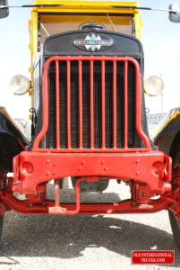 "Cast iron radiator, grill guard. on tow loops that were only used on HS models <div class=""download-image""><a href=""https://oldinternationaltrucks.com/wp-content/uploads/2017/09/DSC00807.jpg"" download><i class=""fa fa-download""></i> <span class=""full-size""></span></a></div>"