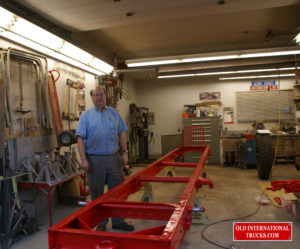 "Frame ready to start reassembly  <div class=""download-image""><a href=""https://oldinternationaltrucks.com/wp-content/uploads/2017/09/DSC01780CROP.jpg"" download><i class=""fa fa-download""></i> <span class=""full-size""></span></a></div>"