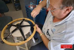 "George putting the steering wheel together  <div class=""download-image""><a href=""https://oldinternationaltrucks.com/wp-content/uploads/2017/09/DSC03619.jpg"" download><i class=""fa fa-download""></i> <span class=""full-size""></span></a></div>"