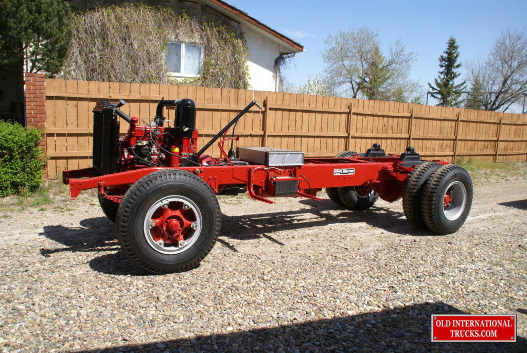 """Chassis rolled out of shop for the first time <div class=""""download-image""""><a href=""""https://oldinternationaltrucks.com/wp-content/uploads/2017/09/DSC04890.jpg"""" download><i class=""""fa fa-download""""></i> <span class=""""full-size""""></span></a></div>"""