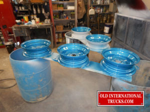 "WHEELS GETTING SOME NEW BLUE PAINT <div class=""download-image""><a href=""https://oldinternationaltrucks.com/wp-content/uploads/2017/09/DSCN0961.jpg"" download><i class=""fa fa-download""></i> <span class=""full-size""></span></a></div>"