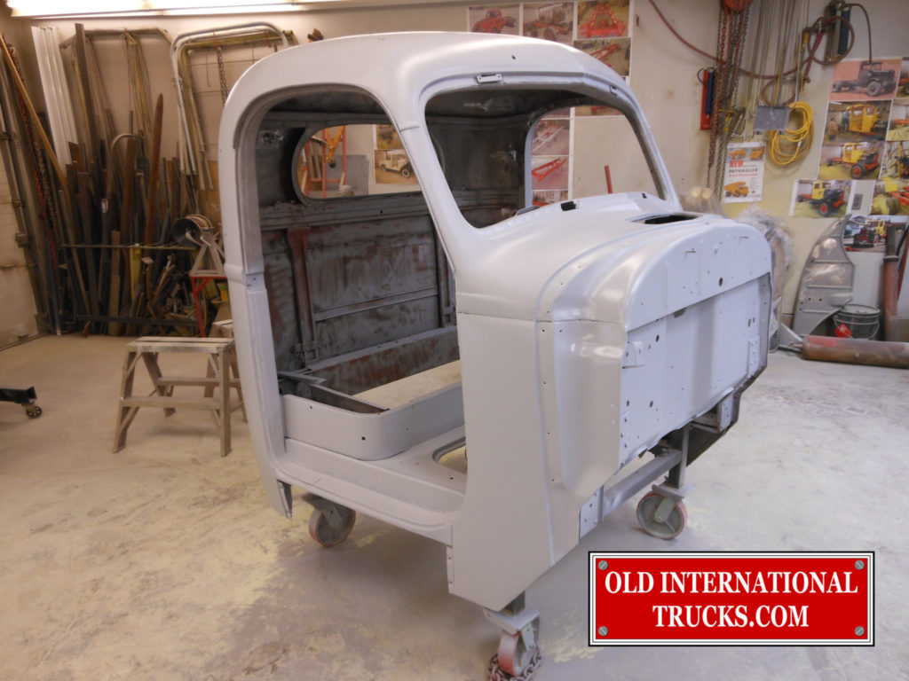 """Cab in primer <div class=""""download-image""""><a href=""""https://oldinternationaltrucks.com/wp-content/uploads/2017/09/DSCN4522.jpg"""" download><i class=""""fa fa-download""""></i> <span class=""""full-size""""></span></a></div>"""