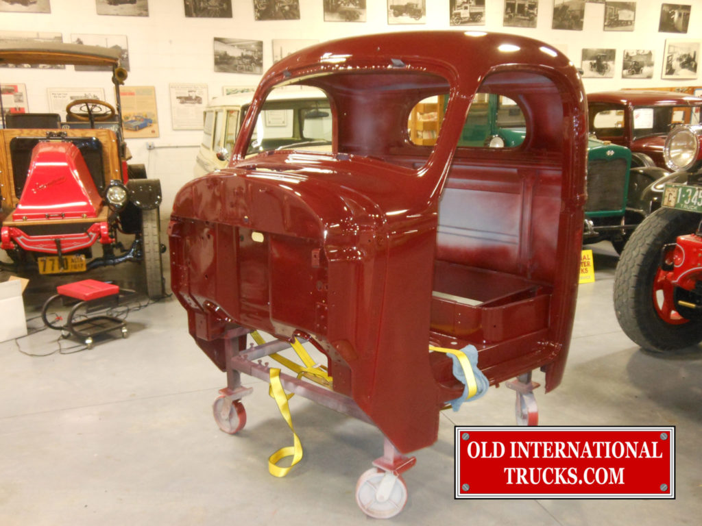 """Cab painted #22 maroon <div class=""""download-image""""><a href=""""https://oldinternationaltrucks.com/wp-content/uploads/2017/09/DSCN4776.jpg"""" download><i class=""""fa fa-download""""></i> <span class=""""full-size""""></span></a></div>"""