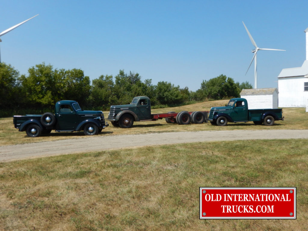 """It's a 3D photo!  (get it? there's three D models in the picture) 2 D-2 Pickups and D246-F Tandem  <div class=""""download-image""""><a href=""""https://oldinternationaltrucks.com/wp-content/uploads/2017/09/DSCN6192.jpg"""" download><i class=""""fa fa-download""""></i> <span class=""""full-size""""></span></a></div>"""