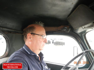 "George Kirkham taking the D246-F for a drive <div class=""download-image""><a href=""https://oldinternationaltrucks.com/wp-content/uploads/2017/09/DSCN7232.jpg"" download><i class=""fa fa-download""></i> <span class=""full-size""></span></a></div>"