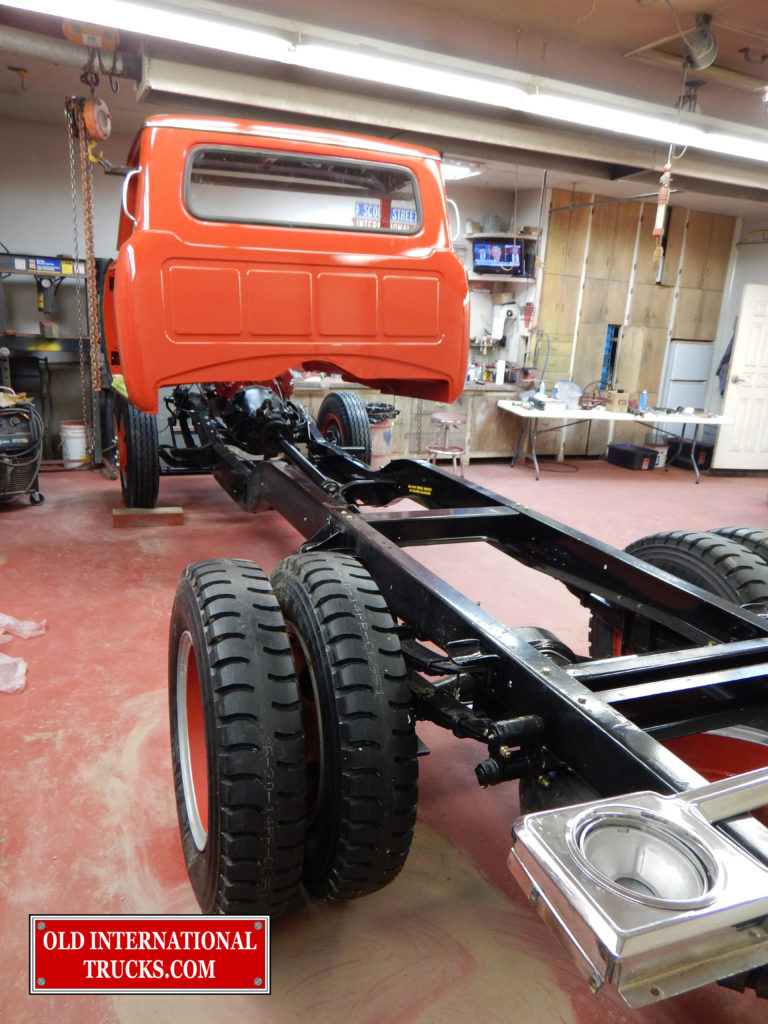 "cab lined up ready to drop on chassis <div class=""download-image""><a href=""https://oldinternationaltrucks.com/wp-content/uploads/2017/09/DSCN8009_1.jpg"" download><i class=""fa fa-download""></i> <span class=""full-size""></span></a></div>"