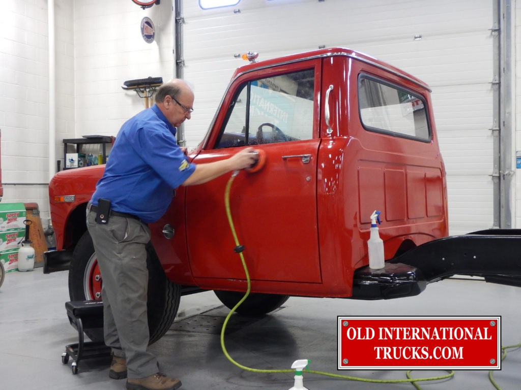 George Kirkham color sanding the doors then they get polished.