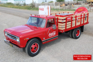 "Old Coke machine and signs installed on the stake box <div class=""download-image""><a href=""https://oldinternationaltrucks.com/wp-content/uploads/2017/09/IMG_0399-1.jpg"" download><i class=""fa fa-download""></i> <span class=""full-size""></span></a></div>"
