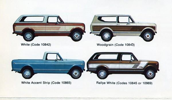 Old International Trucks Colour Charts