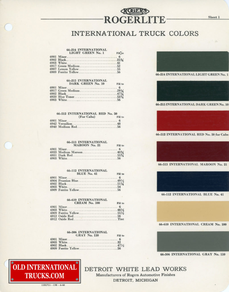1937-1938 color chart
