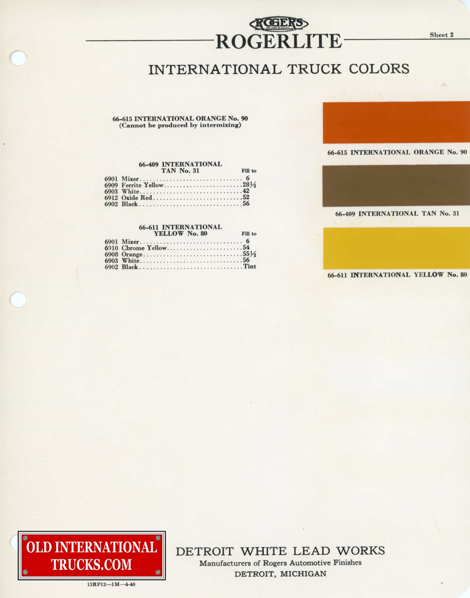 Colour charts old international truck parts 1937 1938 color chart nvjuhfo Image collections