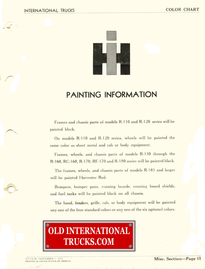 Colour charts old international truck parts 1953 color chart nvjuhfo Gallery
