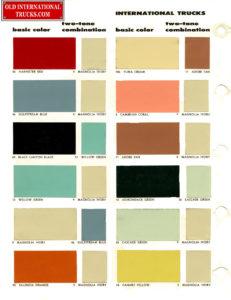"1956 Color Chart two tone combination <div class=""download-image""><a href=""https://oldinternationaltrucks.com/wp-content/uploads/2017/11/1956-Color-Chart-B.jpg"" download><i class=""fa fa-download""></i> <span class=""full-size""></span></a></div>"