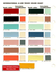 "1957-1958 Color Chart two tone combination <div class=""download-image""><a href=""https://oldinternationaltrucks.com/wp-content/uploads/2017/11/1957-1958-Color-Chart-B.jpg"" download><i class=""fa fa-download""></i> <span class=""full-size""></span></a></div>"