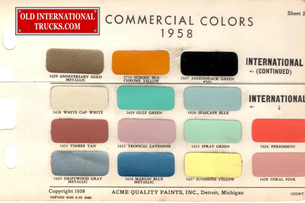 1958 colors