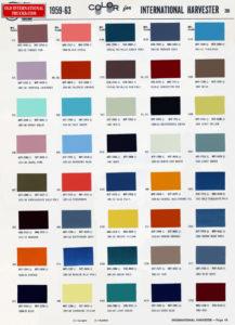 "1959 1963 International colors <div class=""download-image""><a href=""https://oldinternationaltrucks.com/wp-content/uploads/2017/11/1959-63-color-chart525.jpg"" download><i class=""fa fa-download""></i> <span class=""full-size""></span></a></div>"