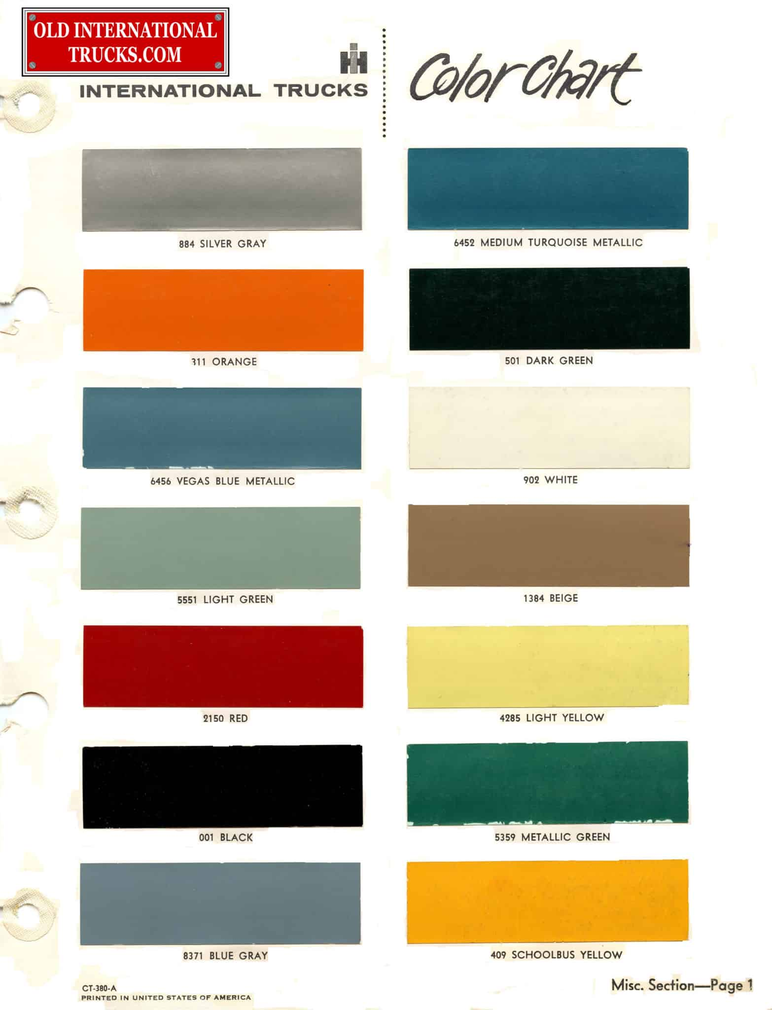 Colour charts old international truck parts 1963 color chart geenschuldenfo Image collections