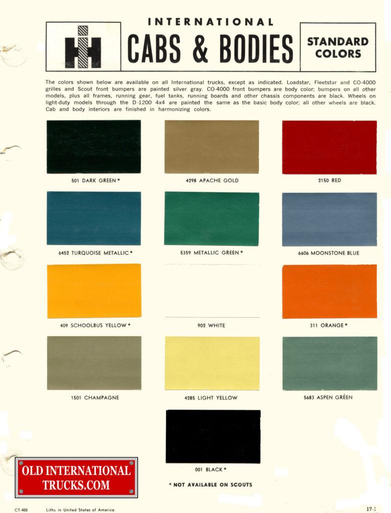 1965 Standard Colors