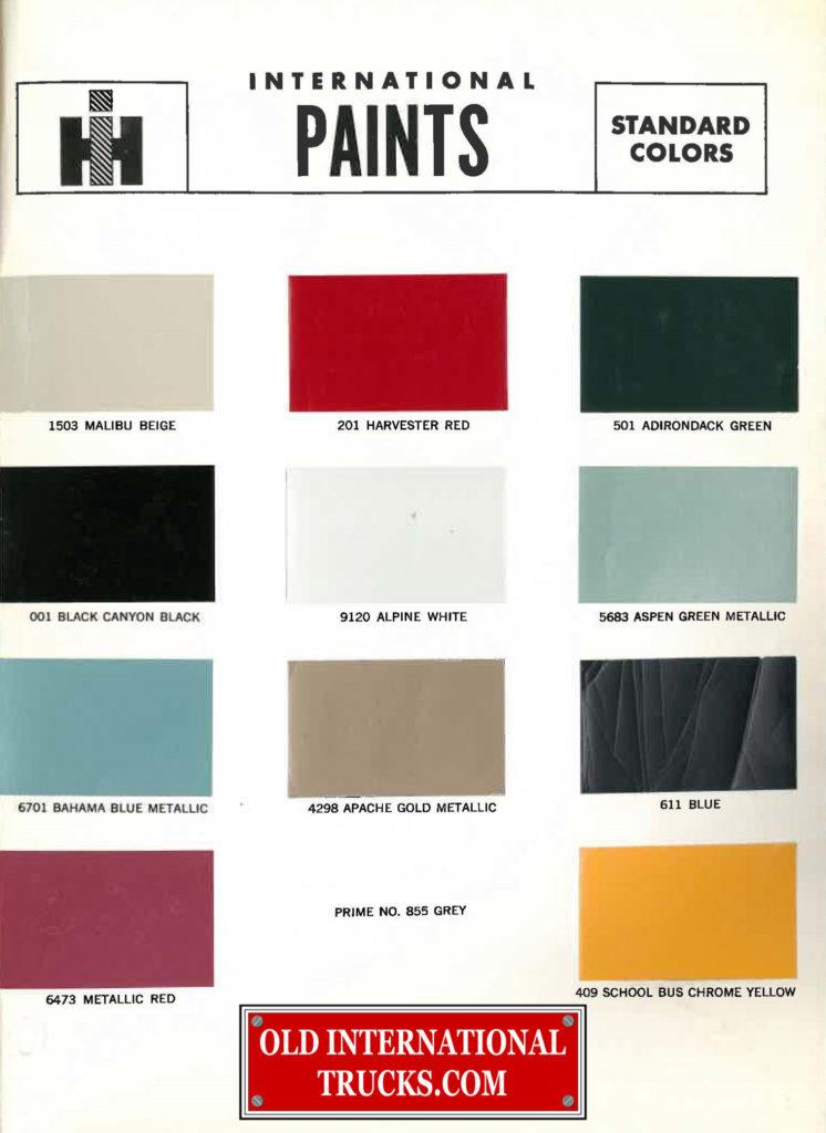 1967 Standard colors