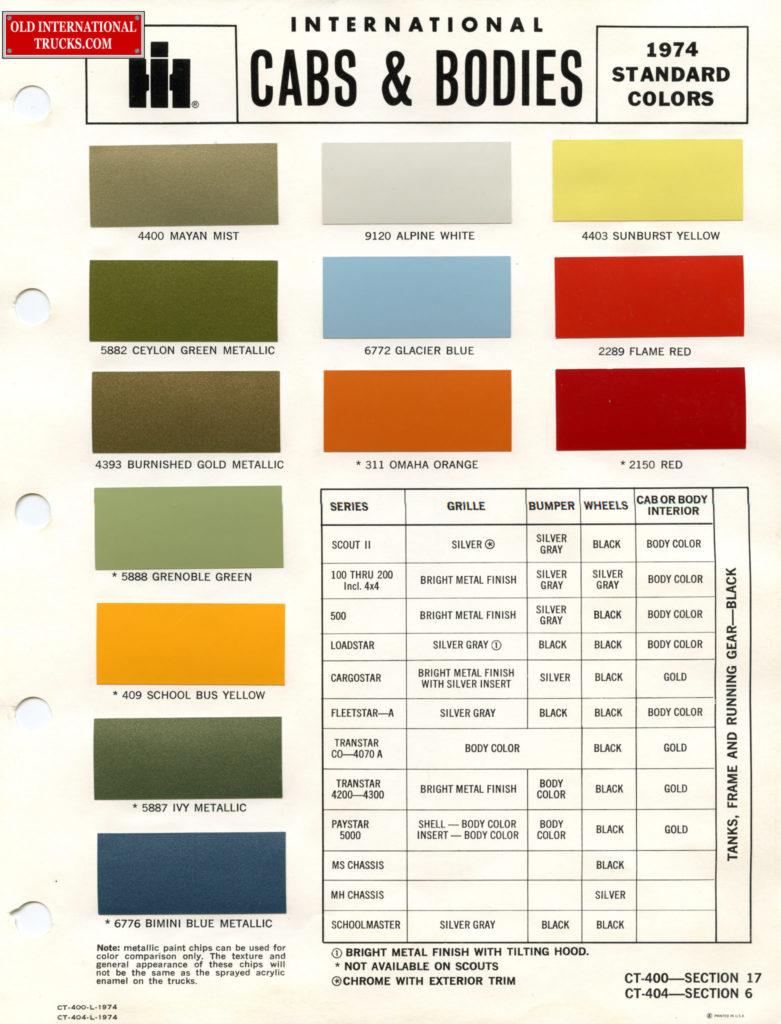 1974-Standard-Colors