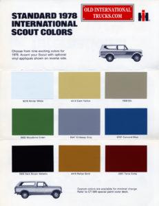 1978 scout colors