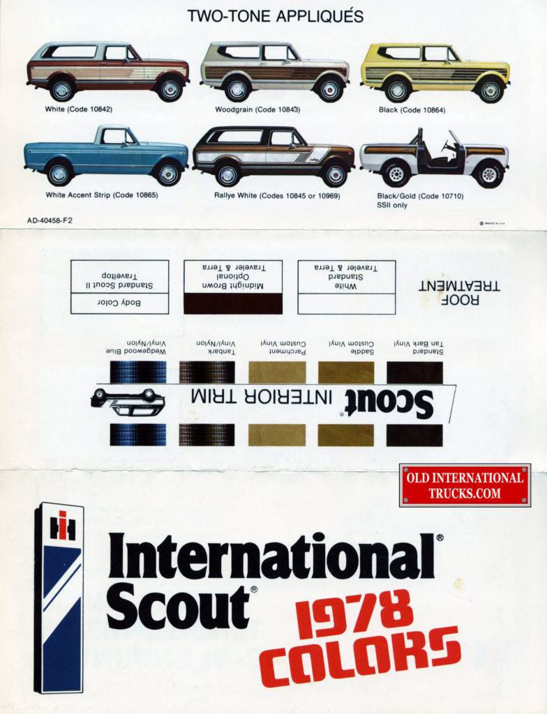 "1978 scout colors  <div class=""download-image""><a href=""https://oldinternationaltrucks.com/wp-content/uploads/2017/11/1978-intnl-scout-colors-b353-colour-chart.jpg"" download><i class=""fa fa-download""></i> <span class=""full-size""></span></a></div>"