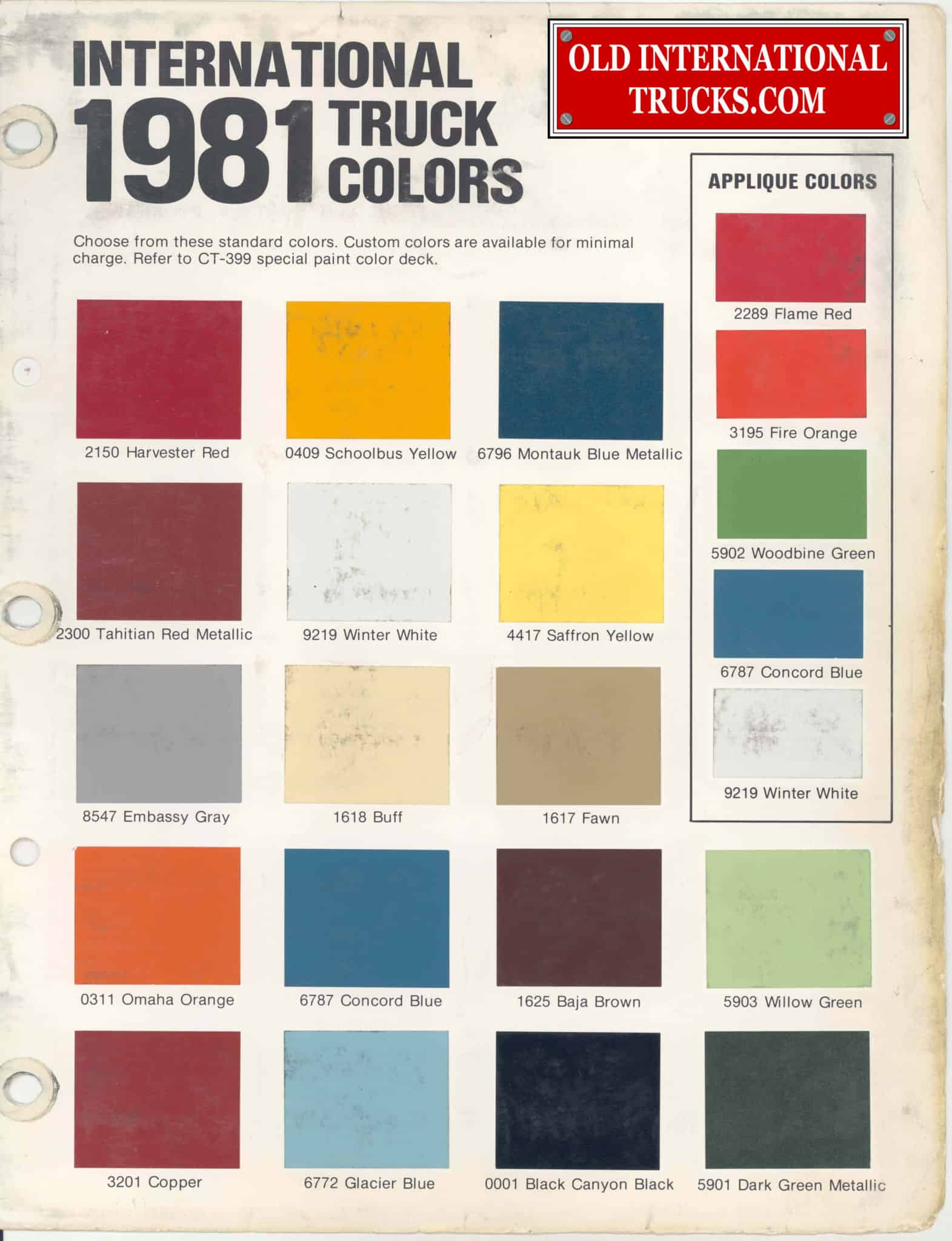 Colour charts old international truck parts 1981 color chart nvjuhfo Choice Image