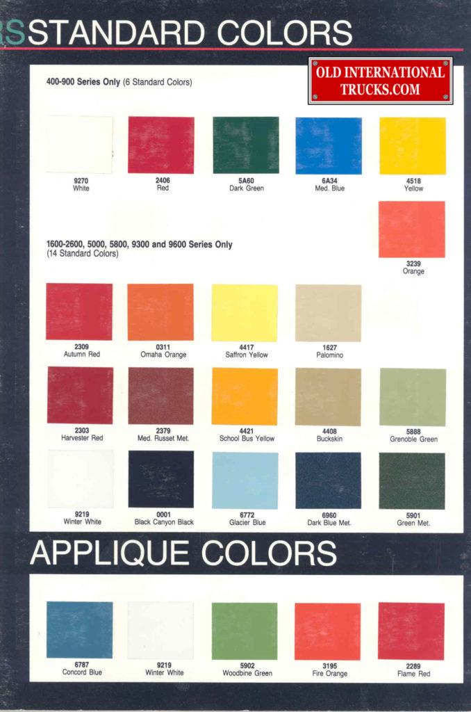1987 colors