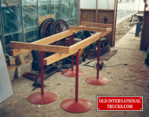 "Wooden frame rails the start of a 10 year restoration <div class=""download-image""><a href=""https://oldinternationaltrucks.com/wp-content/uploads/2017/11/24.jpg"" download><i class=""fa fa-download""></i> <span class=""full-size""></span></a></div>"