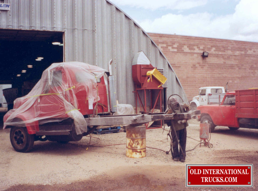 """SAND BLASTING OF THE FRAME  <div class=""""download-image""""><a href=""""https://oldinternationaltrucks.com/wp-content/uploads/2017/11/29-2.jpg"""" download><i class=""""fa fa-download""""></i> <span class=""""full-size""""></span></a></div>"""