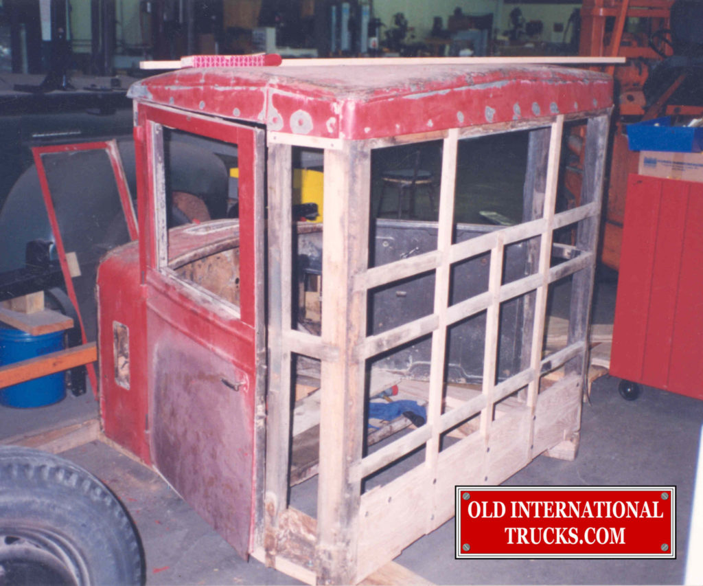 "Cab wood being rebuilt <div class=""download-image""><a href=""https://oldinternationaltrucks.com/wp-content/uploads/2017/11/3.jpg"" download><i class=""fa fa-download""></i> <span class=""full-size""></span></a></div>"
