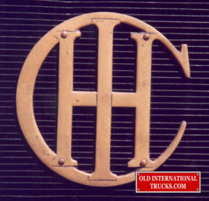 "International Harvesters first logo <div class=""download-image""><a href=""https://oldinternationaltrucks.com/wp-content/uploads/2017/11/47.jpg"" download><i class=""fa fa-download""></i> <span class=""full-size""></span></a></div>"