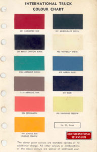"1959 1960 color chart <div class=""download-image""><a href=""https://oldinternationaltrucks.com/wp-content/uploads/2017/11/COLOR-CHART.jpg"" download><i class=""fa fa-download""></i> <span class=""full-size""></span></a></div>"