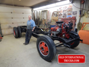 "Chassis done with George Kirkham ready to move on to the next step <div class=""download-image""><a href=""https://oldinternationaltrucks.com/wp-content/uploads/2017/11/DSCN4763.jpg"" download><i class=""fa fa-download""></i> <span class=""full-size""></span></a></div>"