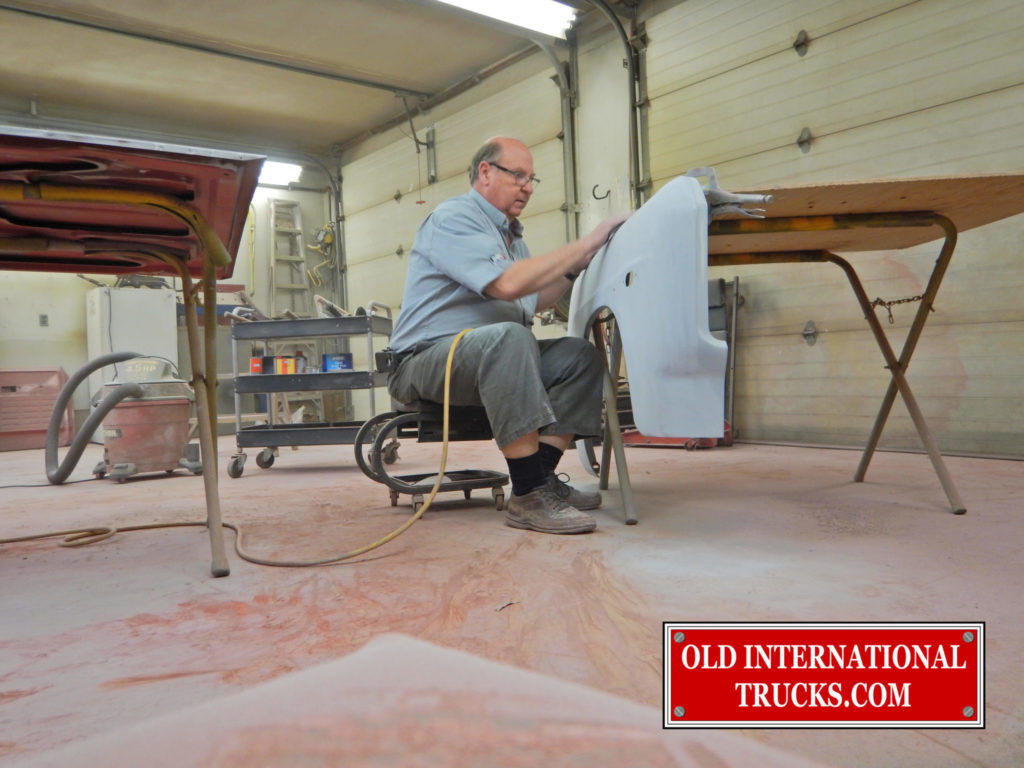 "GEORGE SANDING THE RIGHT FENDER  <div class=""download-image""><a href=""https://oldinternationaltrucks.com/wp-content/uploads/2017/11/DSCN5538.jpg"" download><i class=""fa fa-download""></i> <span class=""full-size""></span></a></div>"