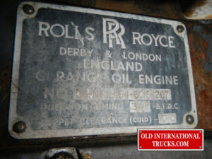 "ROLLS ROYCE ID PLATE ON SIDE OF ENGINE <div class=""download-image""><a href=""https://oldinternationaltrucks.com/wp-content/uploads/2017/11/DSCN8129.jpg"" download><i class=""fa fa-download""></i> <span class=""full-size""></span></a></div>"