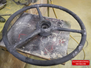 "STEERING WHEEL BEING REBUILT <div class=""download-image""><a href=""https://oldinternationaltrucks.com/wp-content/uploads/2017/11/DSCN8335.jpg"" download><i class=""fa fa-download""></i> <span class=""full-size""></span></a></div>"