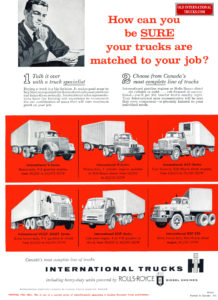 INTERNATIONAL TRUCK WITH ROLLS ROYCE AD