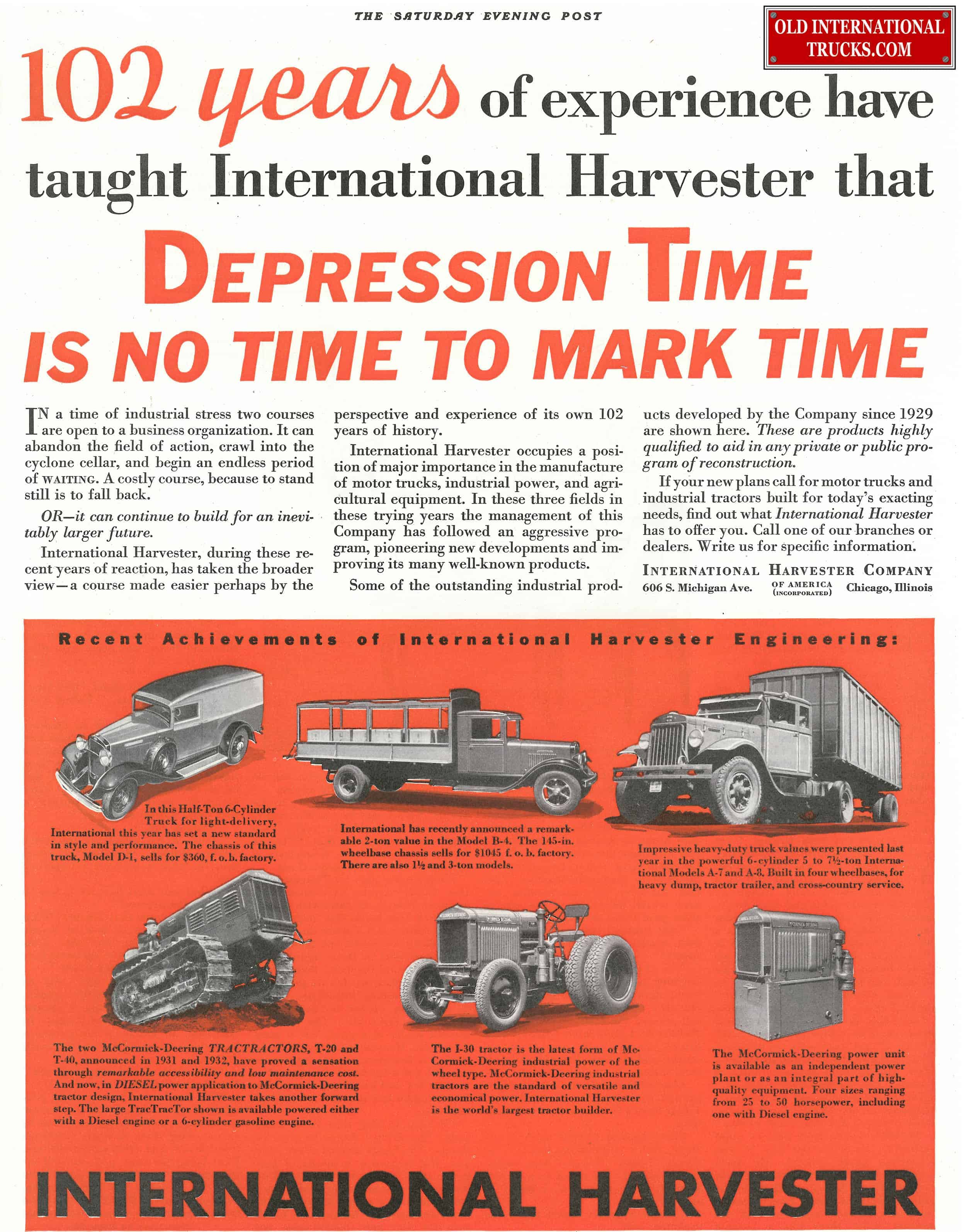 Old International Ads From The 1900-1940\'s • Old International Truck ...