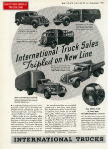 "1937 D LINE AD. <div class=""download-image""><a href=""https://oldinternationaltrucks.com/wp-content/uploads/2017/12/1937-internatioanl-trucks-sales-tripled-on-new-line.jpg"" download><i class=""fa fa-download""></i> <span class=""full-size""></span></a></div>"