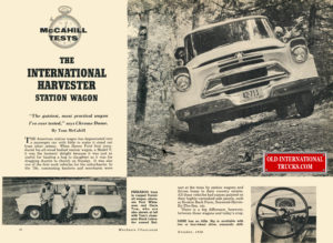 "1958 the International Travelall road test. <div class=""download-image""><a href=""https://oldinternationaltrucks.com/wp-content/uploads/2017/12/1958-the-international-station-wagon.jpg"" download><i class=""fa fa-download""></i> <span class=""full-size""></span></a></div>"