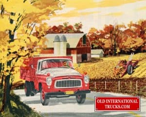 "1959 B Model driving in front of farm <div class=""download-image""><a href=""https://oldinternationaltrucks.com/wp-content/uploads/2017/12/1959-B-Model-driving-infront-of-farm.jpg"" download><i class=""fa fa-download""></i> <span class=""full-size""></span></a></div>"