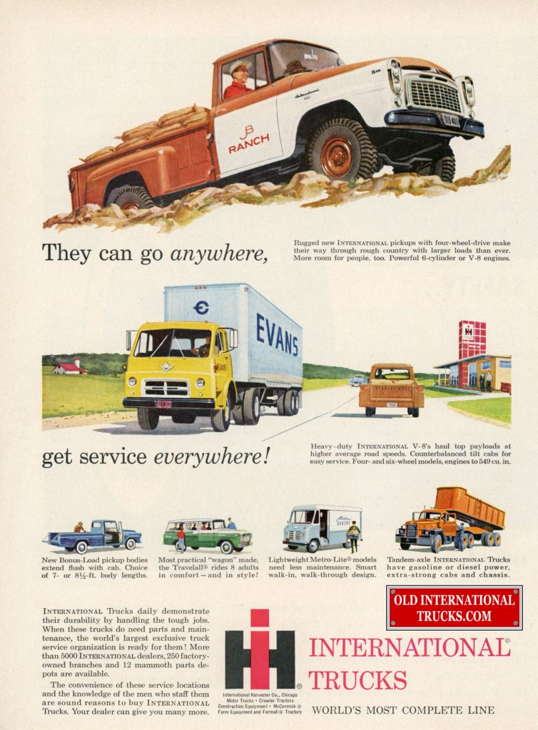 Old International Ads From The B Line Models 1959-1960 • Old