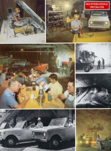 "1976 SCOUTS IN UNDER GROUND MINE <div class=""download-image""><a href=""https://oldinternationaltrucks.com/wp-content/uploads/2017/12/1976-Scout-and-people-in-a-mine.jpg"" download><i class=""fa fa-download""></i> <span class=""full-size""></span></a></div>"